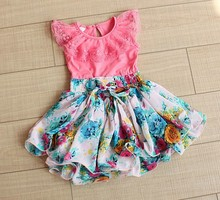 2015 new baby girl summer dress for Fashion Child Clothing