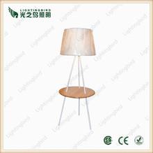 Large Industrial Wood Lamp Spotlight Tripod Floor Lamp