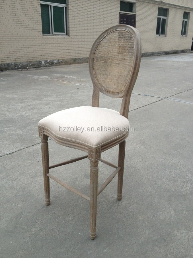 China Supplier Hot Sale Upholstery Fabric Wooden Bar Stool