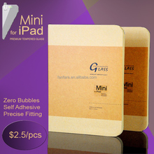 """JJL Tempered Glass Screen Protector For iPad Mini 2 (0.4mm 7.9"""" Straight Edge 9H HD Clear)"""