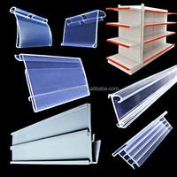 Supermarket plastic shelf price strip PVC Extrusion profile