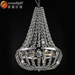 Large French K9 Crystal Chandelier/ Lustre Classic Empire Purse Lamp Light OM81094