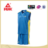 PEAK Brand Men's Basketball uniform Design with Good Quality Strong Basketball Jersey