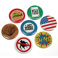 china factory price design round shape custom magnetic button metal badge