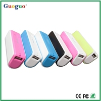 "Mini 2600mah External Battery Pack Compact ""Lipstick"" Size USB Universal Portable Power Bank Charger"
