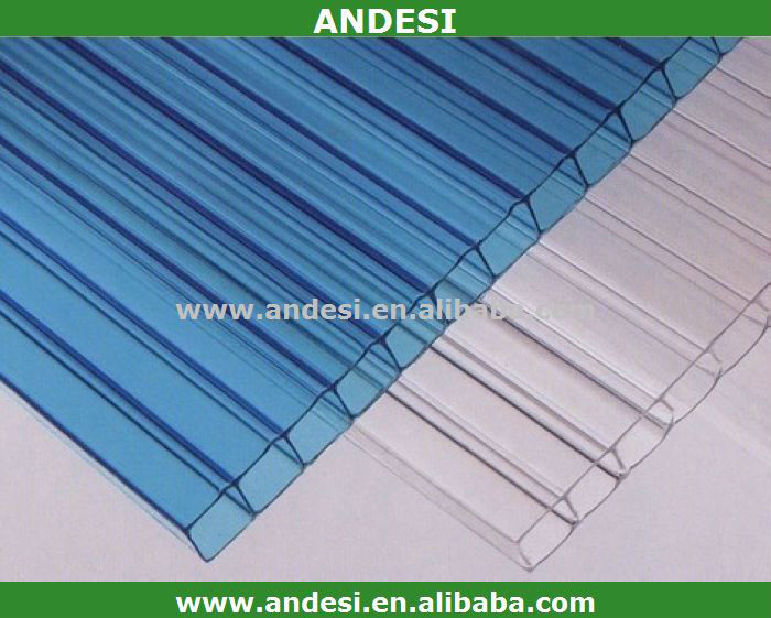 Flexible clear plastic sheets double layer polycarbonate for Flexible roofing material