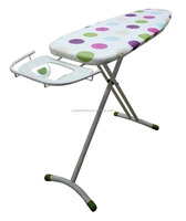 Hot sale Ironing board with retractable iron rest folding ironing board with 100% cotton ironing board cover
