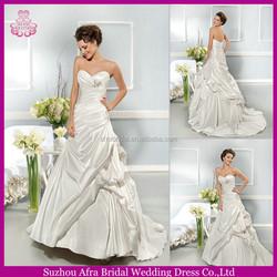 QQ1647 Ruffled satin adult wedding gowns and bridal dress pakistani dresses bridal dresses 2015