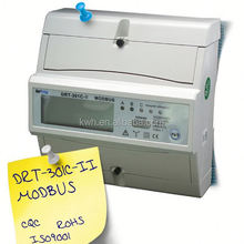 Modbus protocol three phase Din rail active and reactive power meter