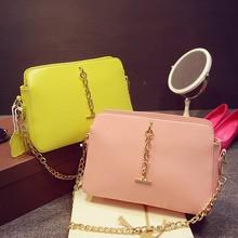 2015 Korea style cindy color Pink Leather messenger bag alibaba shopping