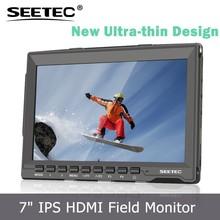 7 '' ligero y delgado diseño Ultra HD IPS 1280 x 800 de campo del Monitor hdmi entradas de Audio fotografía de la <span class=keywords><strong>película</strong></span>