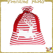 Stripe wholesale christmas reindeer santa sack FGCS-0021
