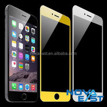 Factory price Premium Colorful frame gold/silver tempered glass screen protector for Iphone6s