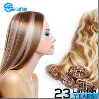 2015 Best Selling!! Good Feedback Top Grade High Quality Full Head Double Wefted 30 inch clip in human hair extensions