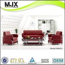 Popular professional white pu leather recliner sofa