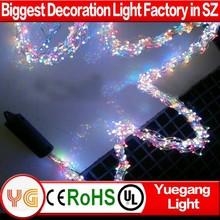 Customized luxury colorful led decoration light for wedding decoration light with DC adaptor