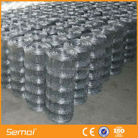 Hot sale low price cheap hot dipped cattle woven wire mesh fence
