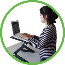 Working Portable Standing and Sitting Desk