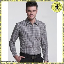 Long Sleeves Sexy Men Office Purple Formal Check Shirts