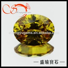 cz loose oval cut golden yellow cubic zirconia sell for thailand