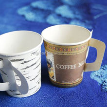 disposable custom printed coffee paper cups handle/ 7oz with handle paper cup 7oz coffee paper cup/ disposable coffee cup