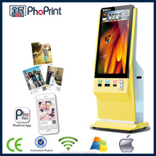 """42"""" inch indoor lcd advertising display stand with 3g/wifi 3D photo printer adversiting"""