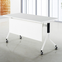 Sectional concise style office training meeting desk folding table with wheels QM-18