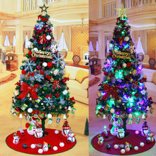 Luxury encryption package tree 2.1 meters iron foot 600 branches Christmas tree decorations