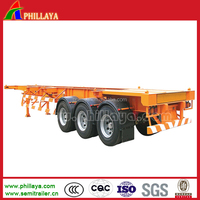 2015 New CHINA cimc style Tri-axle skeletal 40ft Skeleton Container Semi Trailer /truck Trailer With Container Locks