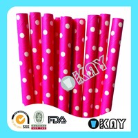 Pink Dot Mother's day Paper Straws