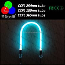 Ccfl cathode froide 185nm 254nm 365nm quartz verre uv CCFL lampe led