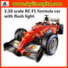 1:10 scale F1 rc racing car toy, F1 formula race car with flash light for sale