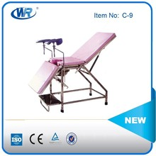 Gynecological obstetric delivery bed& hospital birthing bed, Stainless steel obstetrics gynecology Delivery Bed,delivery bed CE