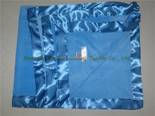 Satin binded anti pill Fleece Coral Blanket hotel quality