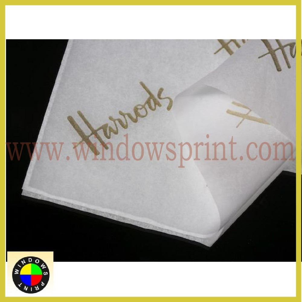 Custom paper for college gift bags and tissue