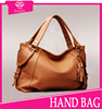 2015 ladies pu handbag brown casual tote bag /wholesale ladies fashion elegance PU leather satchel woman handbag at low price