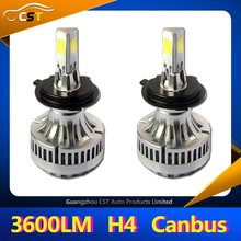 DHL accepted RoHS CE CANBUS A340 Led COB Headlight DC9V~36V 40W 3600LM canbus headlight h4