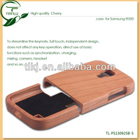 2014 new product of mobile phone cover cherry wood for samsung galaxy s4 19500 case