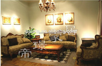 Latest design elegant luxurious classical india style corner fabric sofa