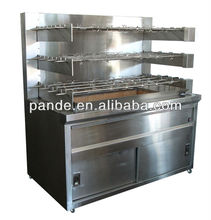 factory price stainless steel charcoal chicken rotisserie equipment,chicken rotisserie grill for sale