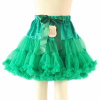 Lovely Design Girls Green Tutu Skirts Child Tiered Skirt With High-waist Ribbon Bow Kids Clothing ST81116-17