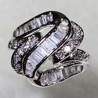 SJYR6765 Luxury Quality Cut Cubic Zirconia Ring, Unique Style Ego Ring with Size 6#/7#/8#/9#Available
