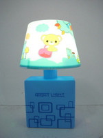 Square fashion battery color changing and kids small night light