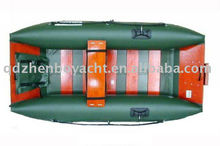 green inflatable boats