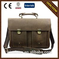 2015 Custom Wholesale best mens leather bags with high quality