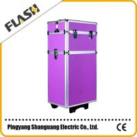 Hot selling professinal aluminum panel Trolley aluminum pilot case
