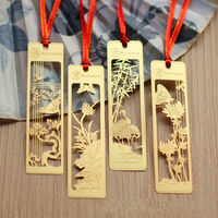 High Quality Shiny Gold Plated Metal Promotional Bookmark