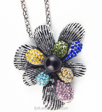 latest design beads necklace leaf and flower style