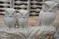 Hot Sale Good Quality Night Owl Granite Sculpture