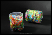 Wholesale cheaper colorful packed loom rubber bands